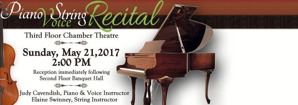 Ariel's Piano, Voice, & String Student Recital