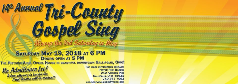 14th Annual Tri-County Gospel Sing