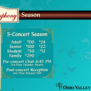 2018-19 Season Subscription! The Ohio Valley Symphony