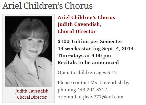 Ariel Children's Chorus