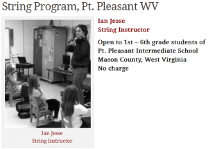 String Program, Pt. Pleasant WV