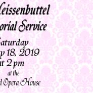 Orva Walker Heissenbuttel Memorial Service