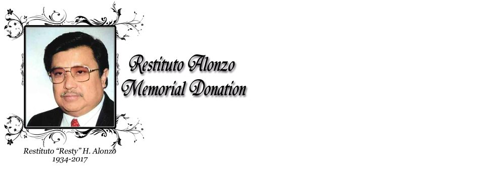 """Restituto """"Resty"""" Alonzo Memorial Donation"""