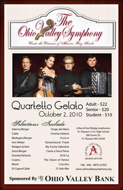Poster featuring OVS logo and photo of Quaretto Gelato