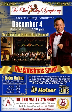 Poster of conductor Steven Huang and The Ohio Valley Symphony