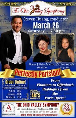 Poster with conductor Steven Huang and soloists Geena Jeffries Maddox and Carline Waugh
