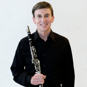 Carl Topilow with his clarinet